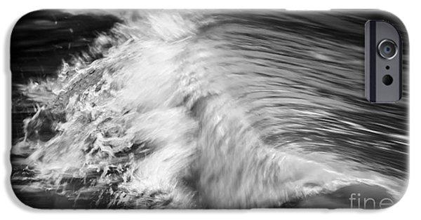 Turbulent iPhone Cases - Ocean wave II iPhone Case by Elena Elisseeva