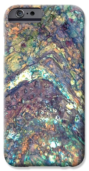 Pastel Tapestries - Textiles iPhone Cases - Ocean Waves 005 iPhone Case by Lori Russell