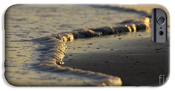 Ocean Sunset iPhone Cases - Ocean Waves iPhone Case by Dustin K Ryan
