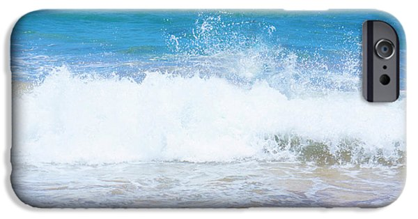Beach iPhone Cases - Ocean Wave Splash iPhone Case by Sheela Ajith