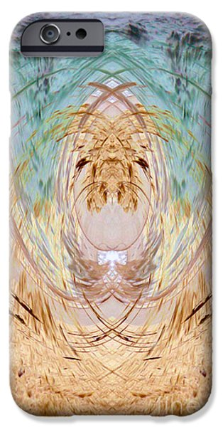 Sand Castles iPhone Cases - Ocean Within  iPhone Case by Michelle Stage