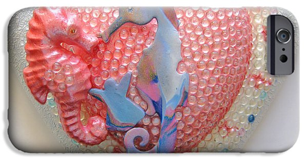Angel Reliefs iPhone Cases - Oceania iPhone Case by Heidi Sieber