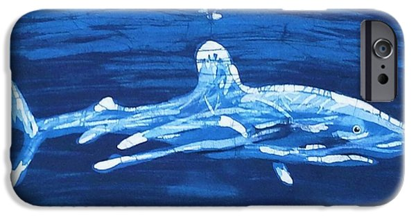 Ocean Tapestries - Textiles iPhone Cases - Oceanic White Tip  iPhone Case by Kay Shaffer
