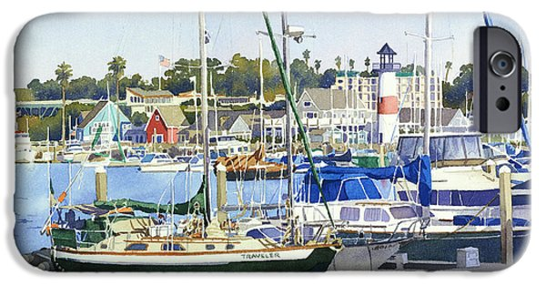 Sailing Paintings iPhone Cases - Oceanside Harbor iPhone Case by Mary Helmreich