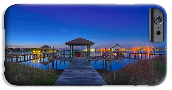 Asymmetrical iPhone Cases - Ocracoke Island At Night Scenery iPhone Case by Alexandr Grichenko