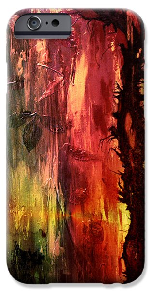 Abstract Digital Art Mixed Media iPhone Cases - October Abstract iPhone Case by Patricia Motley