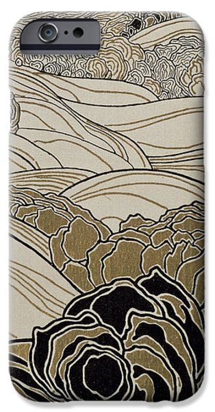 Pen And Ink iPhone Cases - October iPhone Case by Adolf Bohm