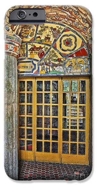 Structures iPhone Cases - October At Fonthill Castle iPhone Case by Susan Candelario