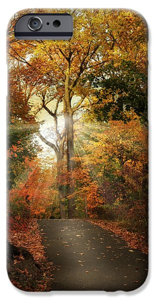 Autumn Digital iPhone Cases - October Finale iPhone Case by Jessica Jenney