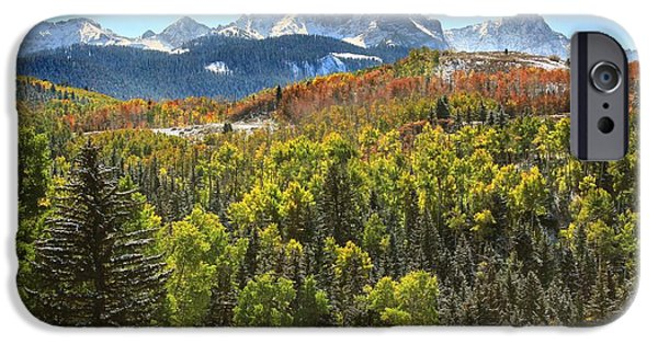 Epic Digital Art iPhone Cases - October in the San Juans iPhone Case by Brett Pfister