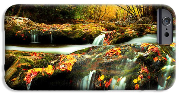 Fall Scenes iPhone Cases - October In The Smokies iPhone Case by Michael Eingle