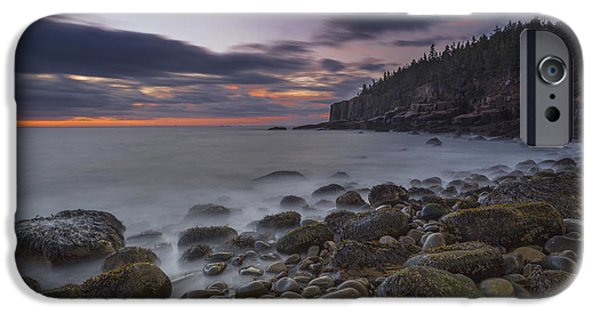 Maine Roads iPhone Cases - October Morning iPhone Case by Marco Crupi