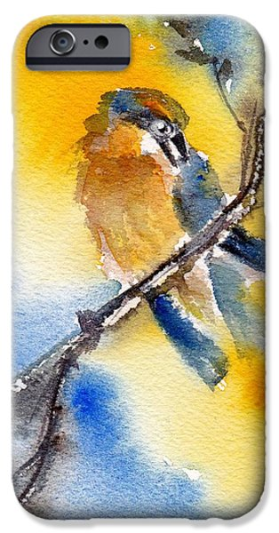 Yellow Beak Paintings iPhone Cases - October Second iPhone Case by Anne Duke