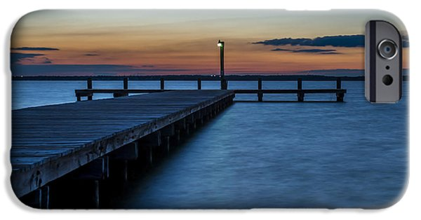 Beach iPhone Cases - October Sunset Lavallette NJ iPhone Case by Terry DeLuco