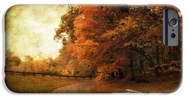 Autumn Landscape iPhone Cases - October Tones iPhone Case by Jessica Jenney