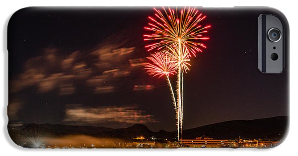 Fireworks iPhone Cases - Octoberwest 2014-51 iPhone Case by Alan Marlowe