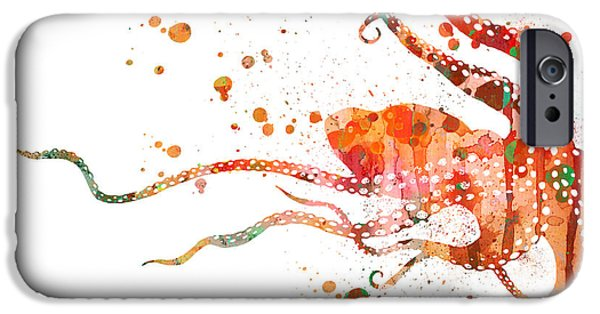 Sea Animals iPhone Cases - Octopus 2 iPhone Case by Luke and Slavi