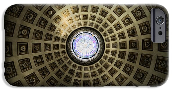 Santa iPhone Cases - Oculus at the Baths of Diocleian iPhone Case by Joan Carroll