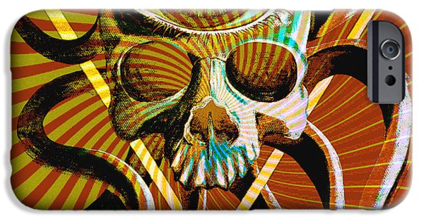 Lucifer iPhone Cases - Ocupus Remix iPhone Case by Steve Hartwell