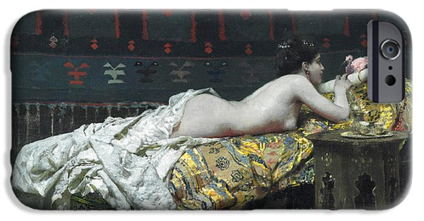 Concubines Paintings iPhone Cases - Odalisque iPhone Case by Francecso Netti