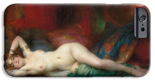 Nudity iPhone Cases - Odalisque iPhone Case by Henri Adrien Tanoux