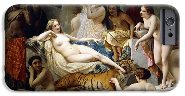 Slaves iPhone Cases - Odalisque iPhone Case by Henri Pierre Picou