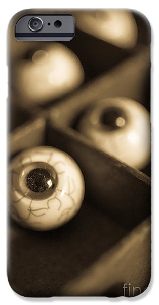 Oddities Fake Eyeballs iPhone Case by Edward Fielding
