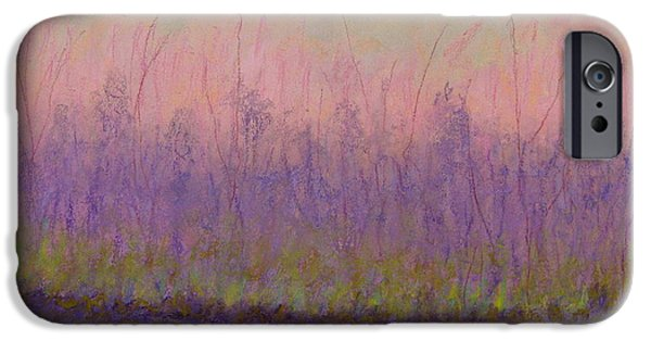 Poetic Pastels iPhone Cases - Ode to the First Green of Spring iPhone Case by Mary Ellen Bitner