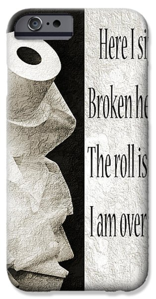Ode To The Spare Roll BW 2 iPhone Case by Andee Design