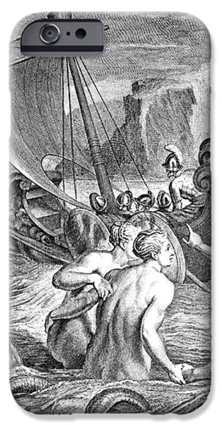 Epic iPhone Cases - Odysseus Escapes Charms Of The Sirens iPhone Case by Photo Researchers