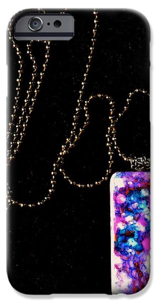 Nature Abstracts Jewelry iPhone Cases - Of Earth Domino Pendant iPhone Case by Beverley Harper Tinsley