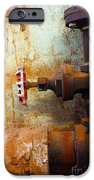 Rust iPhone Cases - Off iPhone Case by Nina Silver