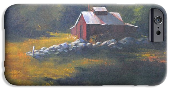 Maine Farms Paintings iPhone Cases - Off Season iPhone Case by Christine Hodecker-George