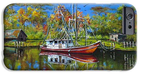 Bayou iPhone Cases - Off Season iPhone Case by Dianne Parks