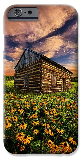 Cabin iPhone Cases - Off the Grid iPhone Case by Phil Koch
