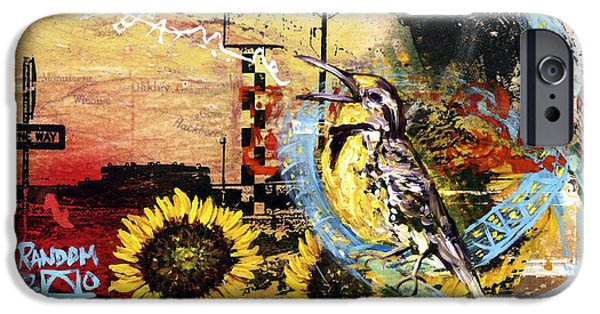 Multimedia Paintings iPhone Cases - Off to See the Wizard... iPhone Case by Andrea LaHue aka Random Act