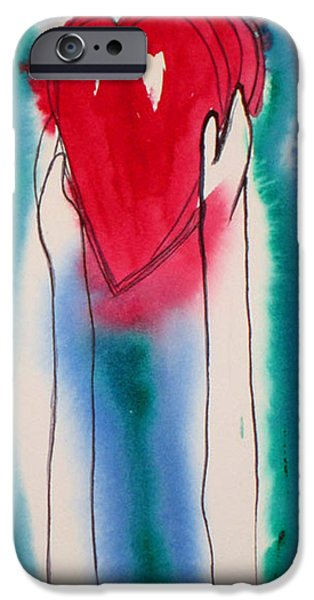 Pen And Ink iPhone Cases - Offering iPhone Case by Suzy Norris