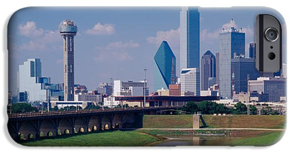 Connection iPhone Cases - Office Buildings In A City, Dallas iPhone Case by Panoramic Images