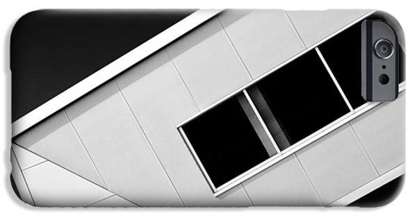 Abstract Forms iPhone Cases - Office Corner iPhone Case by Dave Bowman