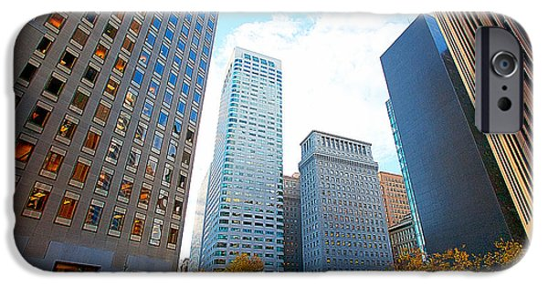 Office Space For Rent In Downtown San Francisco iPhone Cases - Office Space for Rent in Downtown San Francisco iPhone Case by Artist and Photographer Laura Wrede
