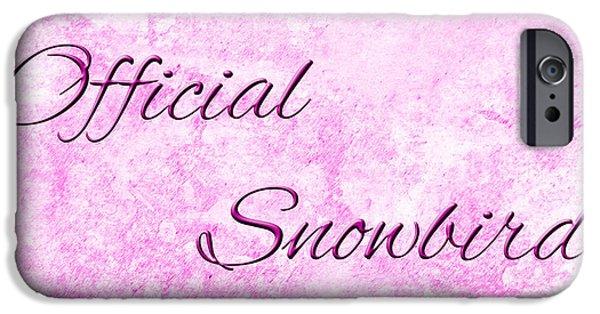 Snowbird iPhone Cases - Official Snowbird 2 iPhone Case by Andee Design