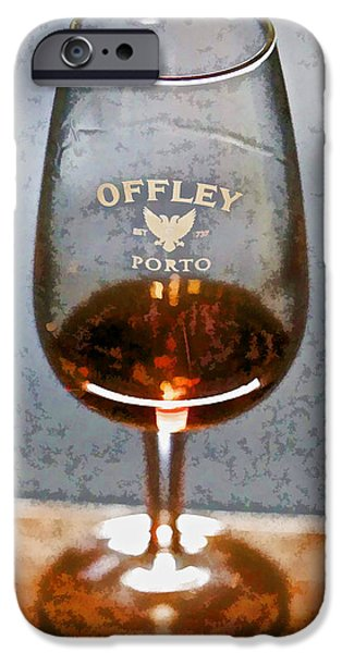 Wine Legs iPhone Cases - Offley Port Wine Glass iPhone Case by David Letts