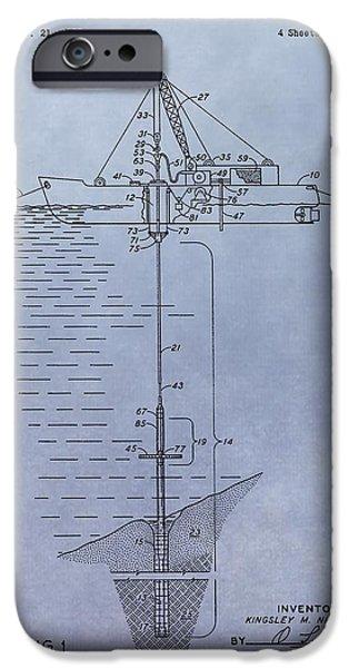 Sea Platform iPhone Cases - Offshore Oil Platform Patent iPhone Case by Dan Sproul