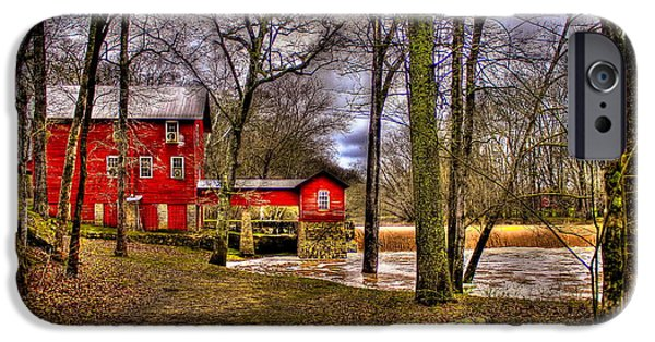 Grist Mill iPhone Cases - Historic Ogeechee Mill Ogeechee River Hancock County iPhone Case by Reid Callaway