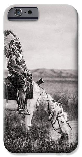 Oglala Indian Man circa 1905 iPhone Case by Aged Pixel