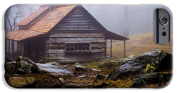 Fog Mist iPhone Cases - OgleFarmhouse-2-7940 iPhone Case by J Michael Hill