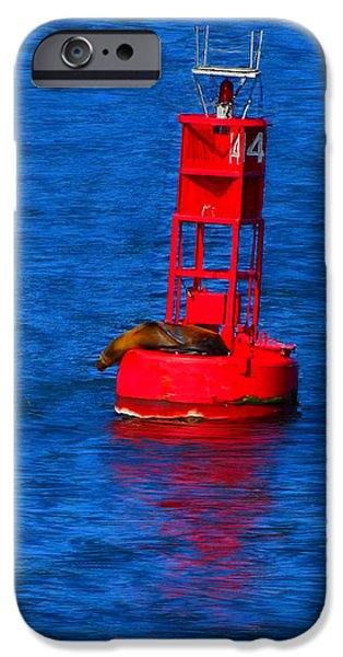 Bouys Paintings iPhone Cases - Oh Buoy iPhone Case by Bruce Nutting