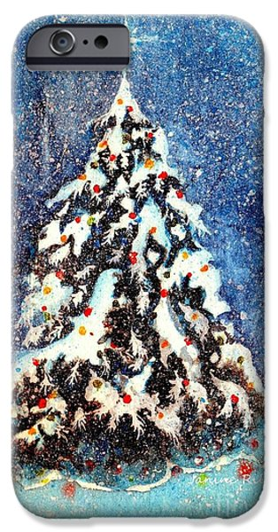 Star Of Bethlehem iPhone Cases - Oh Christmas Tree iPhone Case by Janine Riley