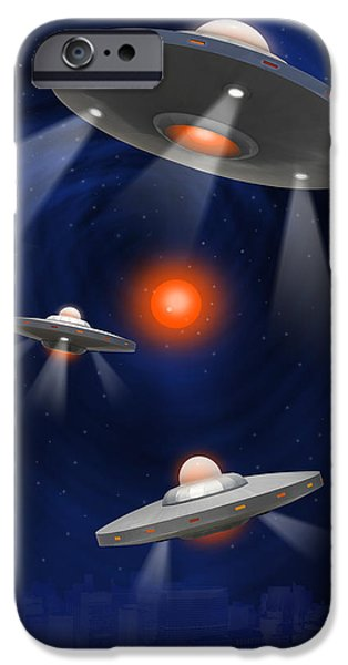 Surrealism Digital Art iPhone Cases - Oh - I Believe 2 iPhone Case by Mike McGlothlen