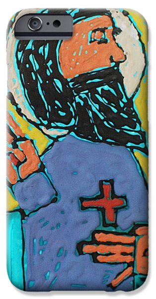 Holy Glass iPhone Cases - Oh JESUS  iPhone Case by Art Mantia